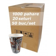 Pahar carton 12oz City Life bax 1000buc