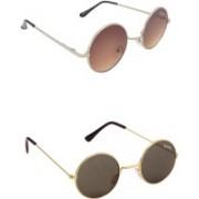 Benour Round, Round Sunglasses(Grey, Green)
