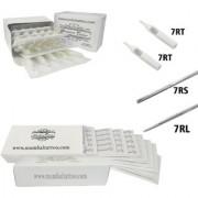 MUMBAI TATTOO WHITE NEEDLES 7RL 7RS ROUND LINER SHADER WITH TIPS 7RT 7RT (PACK OF 2 NEEDLES BOX 2 TIPS)