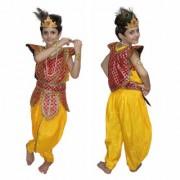 Kaku Fancy Dresses Lord Krishna Costume For Kids Krishnaleela/Janmashtami/Kanha/Mythological Character For Kids School Annual function/Theme Party/Competition/Stage Shows Dress