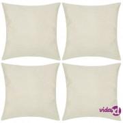 vidaXL 4 Bež Jastučnice Linen-look 50 x 50 cm
