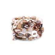 Zaful Bracelet superposé de perles Bronze