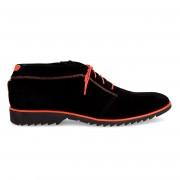 Hemsted & Sons Boots en Velours de Cuir Corentin noires