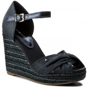 Espadrile TOMMY HILFIGER - Iconic Elena Metallic Canvas FW0FW02651 Midnight 403