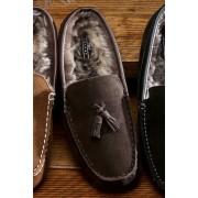Next Luxury Tassel Moccasin - Brown - Mens