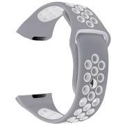 Eternico Fitbit Charge 3 / 4 Silicone, szürke-fehér (Small)