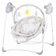 Leagan electric si balansoar Pentru Copii Chipolino Paradise grey little stars