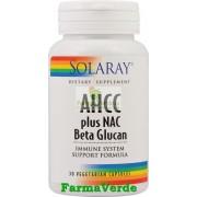 AHCC Plus NAC+ Beta Glucan 30 Cps Antitumoral Solaray Secom