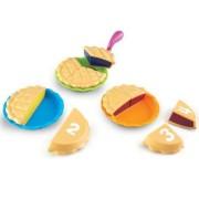 Set educativ pentru invatarea fractiilor Learning Resources Puzzle Pies - Placinte feliate