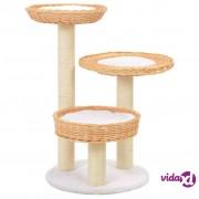 vidaXL Penjalica za mačke od drva vrbe sa stupovima za grebanje
