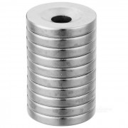18mm * 3mm Round Shaped Magnetic NdFeB Magnets - Silver