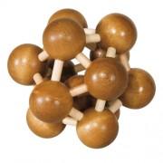 Fridolin Joc logic IQ din lemn de bambus Atom 3D