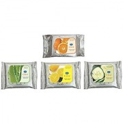 GINNI CLEA WIPES Cleansing Make-up Remover -Orange pack of 30 Rose Lemon Cucumber pack of 3 10 in each pack Total 60 counts