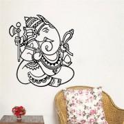 EJA Art Ganpati Wall Sticker (Material - PVC) (Pec - 1) With Free Set of 12 pec butterflies sticker