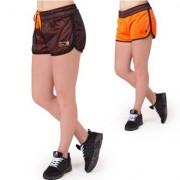 Gorilla Wear Madison Reversible Shorts, Black/Neon Orange
