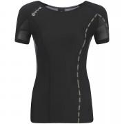 Skins DNAmic Women's Short Sleeve Top - Black/Limoncello - L - Black/Yellow