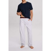 Atlantic Hide Pyjama Set Short Sleeved T Shirt & Pants Navy NMP-312