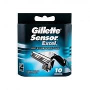 Gillette Sensor Excel náhradní břit 10 ks pro muže