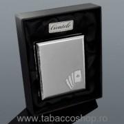 Tabachera metalica Gentelo Poker pt 20 tigari, in cutie, 0369