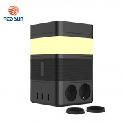 Boxa portabila cu lampa inteligenta Redsun RS-02EU-SP, Functie de baterie externa, Incarcator Wireless, Bluetooth