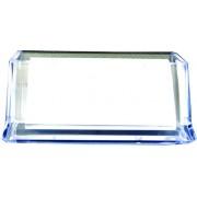 Suport plastic pentru carti de vizita pentru birou, FOSKA - transparent
