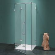 Box doccia a tre lati Antin/U da 80 cm in cristallo 6 mm Cerniere Sabbiato Roby