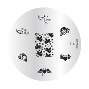Special KONAD stamping plate S16 LOVE