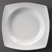 Olympia Whiteware afgeronde vierkante soepborden 25cm - 4