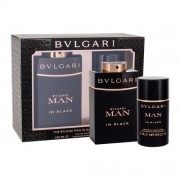 Bvlgari Man In Black set cadou Apa de parfum 100 ml + Deodorant solid 75 ml pentru bărbați