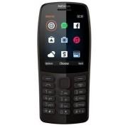 "Telefon mobil NOKIA 210 (2019), Ecran 2.4"", VGA, 2G, Dual Sim (Negru) + Cartela SIM Orange PrePay, 6 euro credit, 6 GB internet 4G, 2,000 minute nationale si internationale fix sau SMS nationale din care 300 minute/SMS internationale mobil UE"