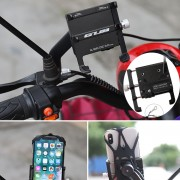 GUB G-91 Road Bike Phone Mount Stable Holder Bicycle Electric Motorcycle Scooter Phone Fixed Bracket - Black
