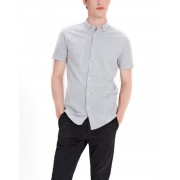 JACK&JONES Casual Cotton Shirt Light Grey