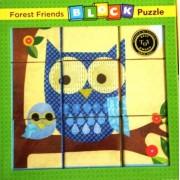 BLOCKS Forest Friends 9 Cubes 6 Images BLOCK Puzzle