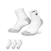 Chaussettes de training Nike Dry Cushion Quarter (3 paires) - Blanc