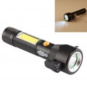 10W 450 lumen IPX4 waterdichte oplaadbare LED zaklamp met veiligheid Hammer & 3-modi