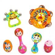 Mayatra's Musical Instruments Toy Set Timbrel Maracas Sand Eggs Shaker Hand Bells Bell Drum Baby Rattle