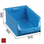 Allit Plastové boxy plus 5, 310 x 500 x 200 mm, červené, 6 ks