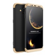 Protectie Spate GKK 360 6972170532305 pentru Samsung Galaxy A8 2018 (Negru/Auriu)