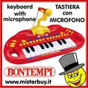 BONTEMPI TASTIERA MUSICALE con MICROFONO