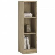 Essentials Medium Narrow Bookcase Sonama Oak Self Assembly