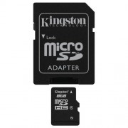 Memorija Micro SD 8GB Kingston Class 4 + SD adapter, SDC4/8GB