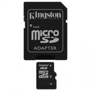 Memorija Micro SD 8GB Kingston Class 4 +SD adapter, SDC4/8GB