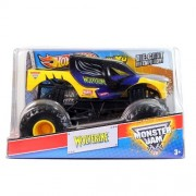 "Hot Wheels Year 2013 Monster Jam 1:24 Scale Die Cast Metal Body Official Monster Truck Series #X9021 098 C : X Men Wolverine With Monster Tires, Working Suspension And 4 Wheel Steering (Dimension : 7"" L X 5 1/2"" W X 4 1/2"" H)"