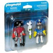 Playmobil Duo Pack - Policia Y Ladron Del Espacio - 70080
