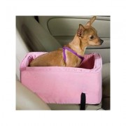 Snoozer Pet Products Luxury Microfiber Console Dog & Cat Car Seat, Pink, Small