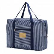 Al aire libre de viaje portatil de nylon bolsa de almacenamiento de tela bolso - azul
