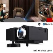EW PRO HDMI Portable Mini LED Proyector Home Cinema Teatro De Animación Estándar De Los E.E.U.U-Negro