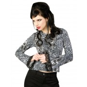 tricou stil gotic și punk femei - Ladys Longsleeve Jersey Leppard Grey - ADERLASS - B-4-19-102-69