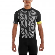 Skins Cycle Men's Classic Short Sleeve Jersey - Leviathan/Black - S - Black