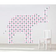 Sticker decorativ Giant Elephant pentru fetite - 121 x 96 cm